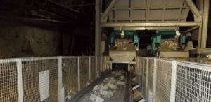 Sistema de cintas transportadoras en interior y exterior de mina para mineral de oro, (2013)