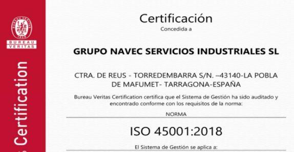 Transición OHSAS 18001:2007 a ISO 45001:2018